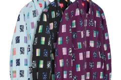 Patchwork Zip Up Shirt: ca. 178€